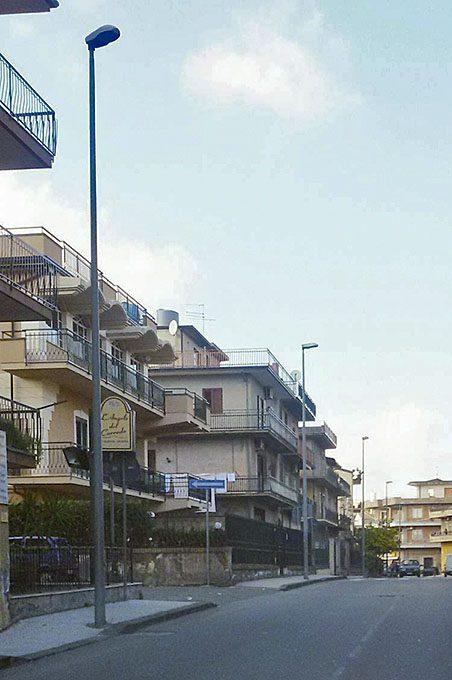Biancavilla, l'impianto di illuminazione di Via Cristoforo Colombo